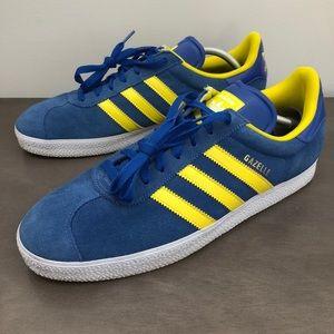 Adidas Gazelle Blue/Yellow Sneakers